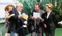 BLAME IT ON THE BELLBOY, from left: Alison Steadman, Richard Griffiths, Bryan Brown, Patsy Kensit, 1992, © Buena Vista