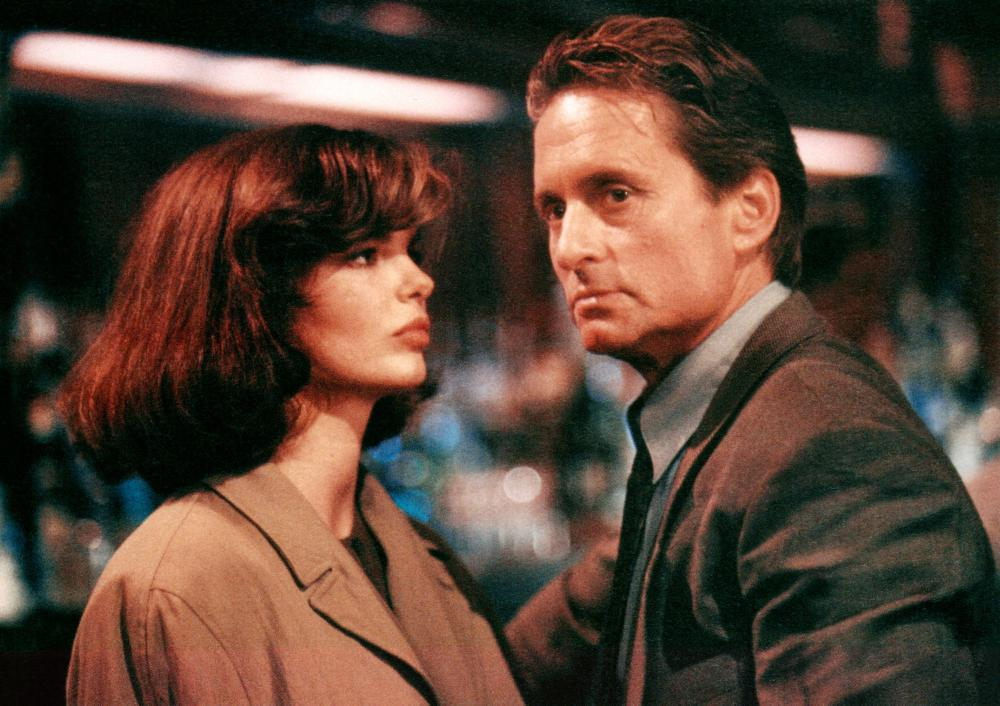 BASIC INSTINCT, from left: Jean Tripplehorn, Michael Douglas, 1992. ©TriStar Pictures