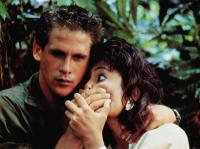 AMERICAN NINJA, from left: Michael Dudikoff, Judie Aronson, 1985, © Cannon Films