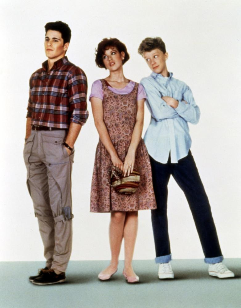 SIXTEEN CANDLES, Michael Schoeffling, Molly Ringwald,  Anthony Michael Hall, 1984. (c)Universal Pictures.