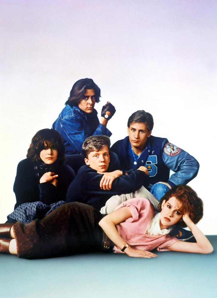 THE BREAKFAST CLUB, Ally Sheedy, Judd Nelson, Anthony Michael Hall, Molly Ringwald, Emilio Estevez, 1985, (c) Universal