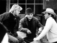 YOUNG GUNS, Kiefer Sutherland, Terence Stamp, Christopher Caine, 1988.