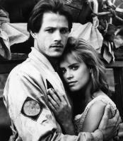 WORLD GONE WILD, Michael Pare, Catherine Mary Stewart, 1988, (c)Lorimar Film Entertainment