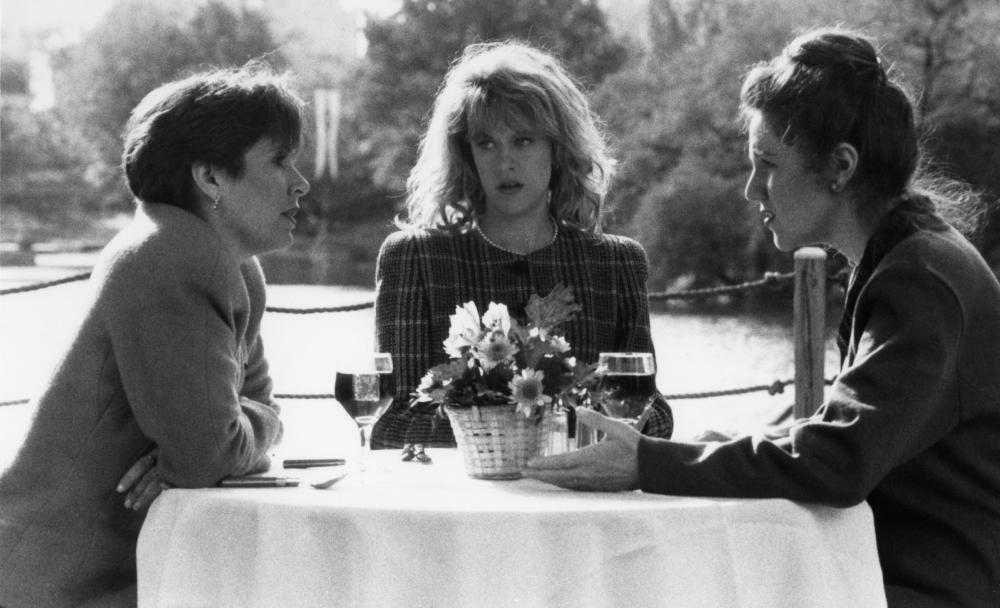 WHEN HARRY MET SALLY..., Carrie Fisher, Meg Ryan, Lisa Jane Persky, 1989. © Columbia Pictures